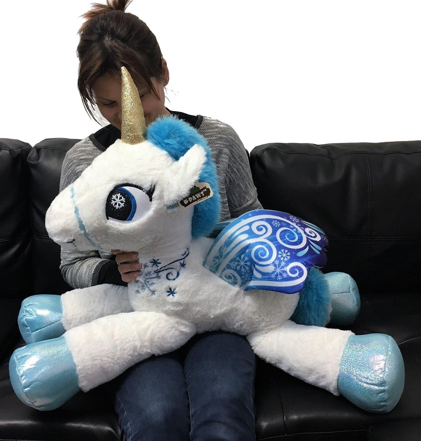 ab0f190783 Grande Peluche Unicorno Pony Cavallo Bianco 75 cm per Bambini Ragazzi  Adulti San Valentino: Amazon.it: Giochi e giocattoli