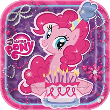 My Little Pony 7 Square Party Plates [8 Per Pack]: Amazon.es: Juguetes y juegos