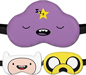 Sleep Mask for Girls Women Children Kids - Sleeping mask 100% Soft Cotton - Comfortable Eye Sleeping Mask Night Cover Blindfoldfor Travel Airplane (Lumpy-Princess Purple, Plastic Pack)