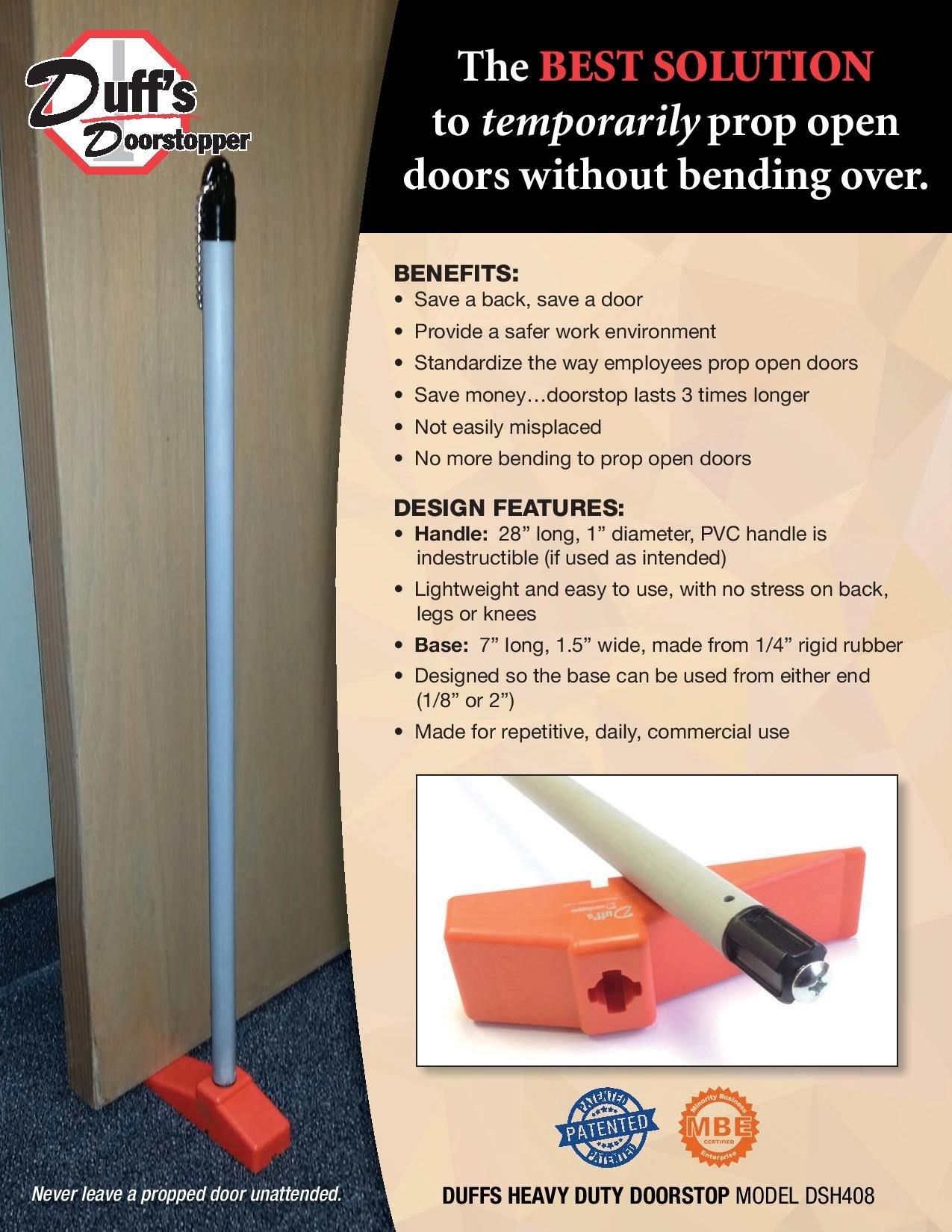 Duffs Heavy Duty Doorstop
