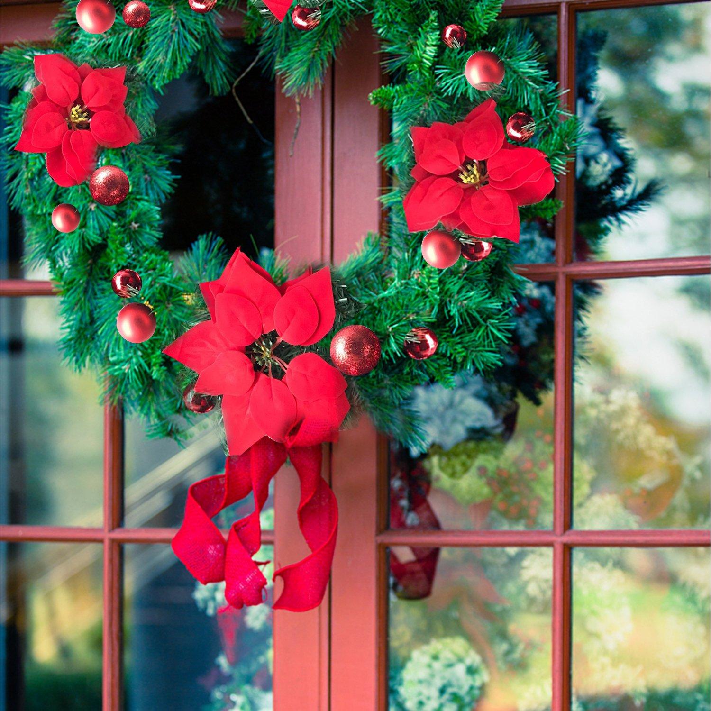 Amazon Christmas Garland Mailbox Cover Illuminated with Warm