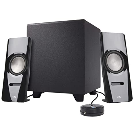 5dfa66243c7 Cyber Acoustics 2.1 Stereo Speaker System with Subwoofer - Computer and  Home Audio Set for PC