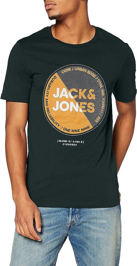 TALLA L. Jack & Jones Jcolambo tee SS Crew Neck Fst Camiseta para Hombre