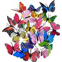 Shappy 20 Piezas Estacas de Mariposas de Jardín