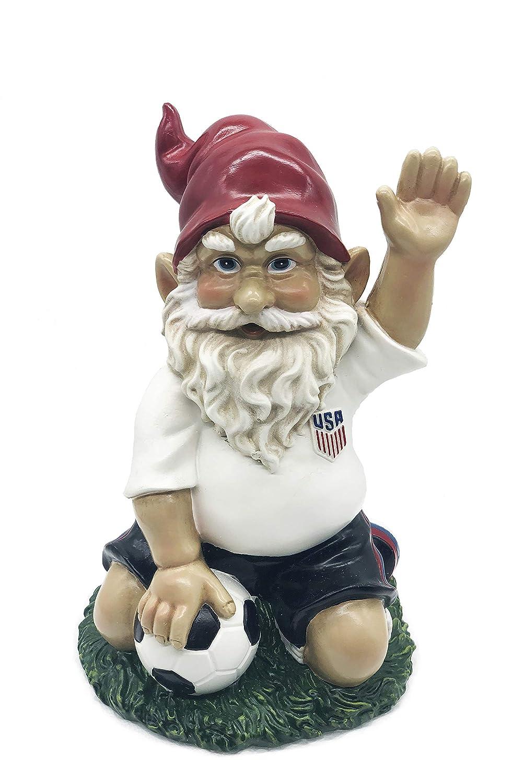 FICITI Soccer Gnome Sports Theme Gnome, Perfet Gift for Soccer Fans, Garden Gnome Statue, 7.5 Inches