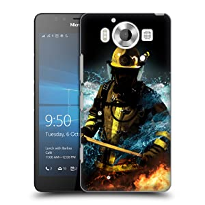 Official Jason Bullard Fireman 1 Firefighter Hard Back Case for Microsoft Lumia 950
