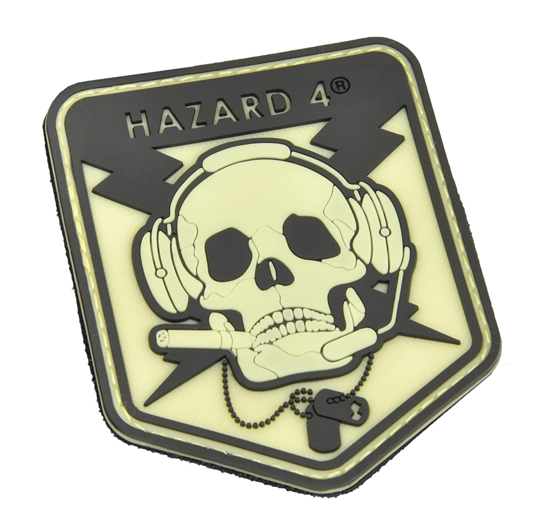 Hazard 4 specOp Skull Patch-Glow in The Dark PAT-OPSK-YLO