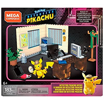 Mega Construx Pokemon Detective Pikachu's Office 183 Pieces: Toys & Games