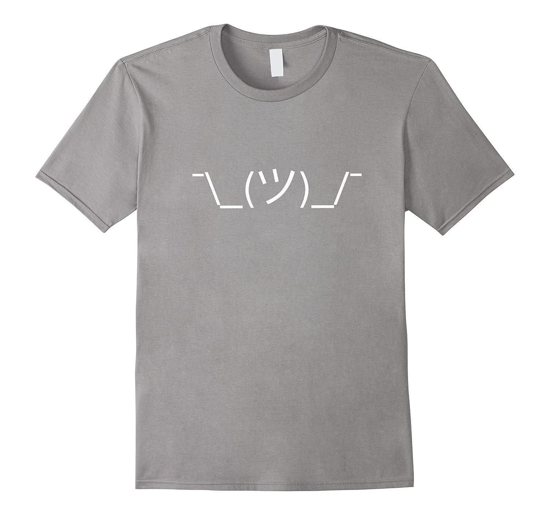Shrug Emoji White T-Shirt-Vaci