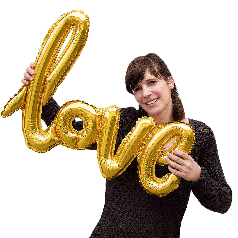Colore Oro Rosa Colore a Scelta Addio al Nubilato Nozze JGA San Valentino Oblique Unique/® Palloncino in Pellicola con Scritta Love per Matrimonio
