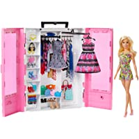 Barbie Fashionistas Ultimate Closet Portable Fashion Toy with Doll, Clothing, Accessories and Hangars, Gift for 3 to 8…