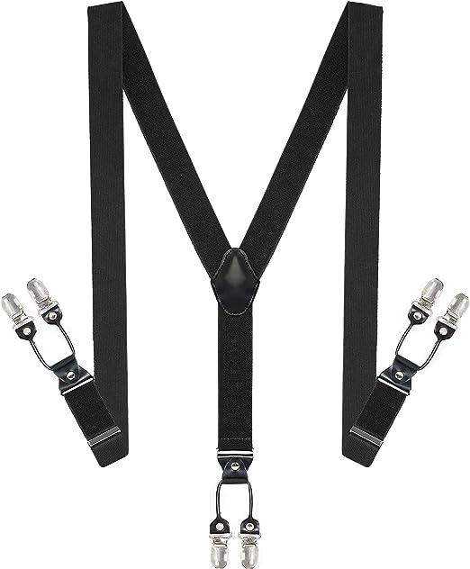 Men/'s Suspender Braces Elastic Y Shape Wide Adjustable Trouser belt B/&W Dotted