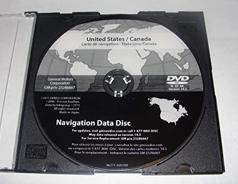Amazon com: 2007-2012 GMC Acadia 2016 Navigation DVD Map Update 14 3