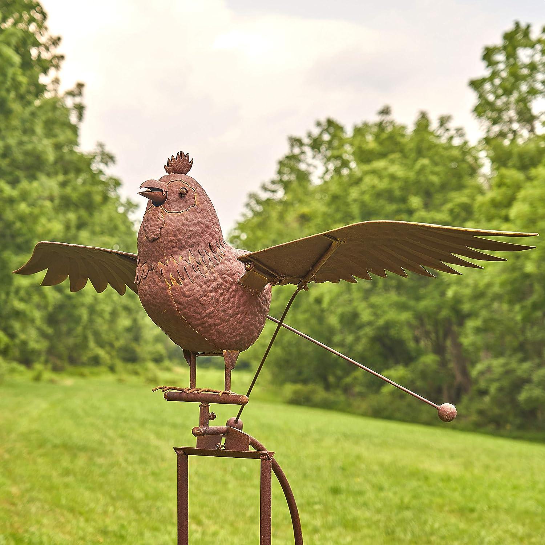 Balancing bird perch métal animal vent spinner garden lawn ornaments owl chicks