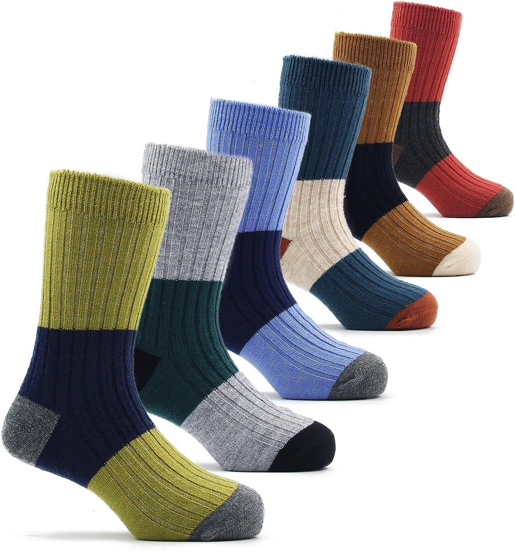 Kidlove Boys Girls Seamless Cartoon Wool Crew Socks 5 Pairs 1t-12t