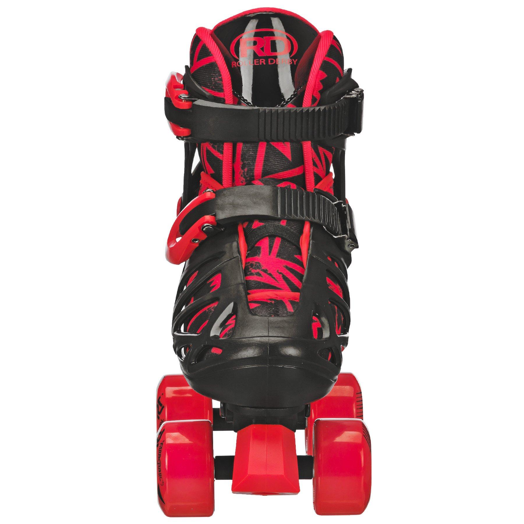 Roller Derby Trac Star Boy's Adjustable Roller Skate, Grey/Black/Red, Large (3-6) by Roller Derby (Image #4)
