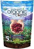 5LB Subtle Earth Organic Coffee - Medium-Dark Roast - Whole Bean - Organic Arabica Coffee - (5 lb) Bag