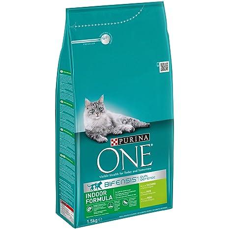 PURINA ONE Bifensis Pienso para Gatos de Interior Pavo y Cereales ...