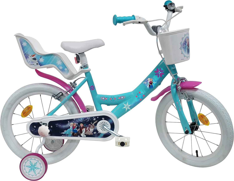Bicicleta de 16 Pulgadas para niña, 2 Frenos, de Frozen: El Reino ...