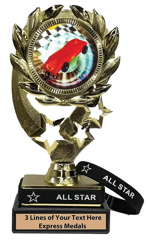 Express Medals - Trofeo de Madera de Pino Derby con Correa ...