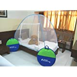 Classic Mosquito Net Foldable (Blue) (Size-Single Bed)