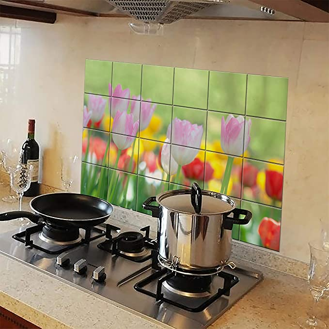 Bupin 60 x 90 Waterproof Anti-oil Stain Kitchen Decoration Wall Sticker Tile Decal