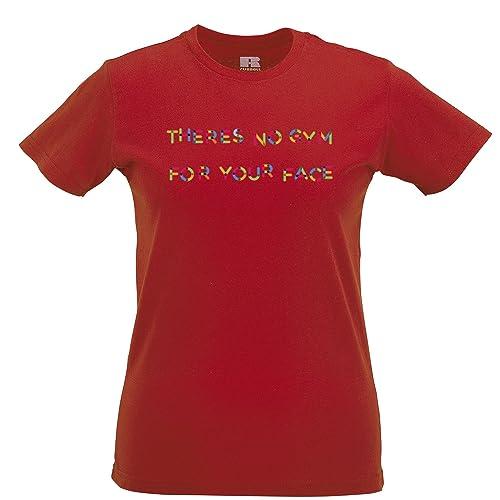 Tim and Ted Nessuna Palestra per Il Viso Stampato Slogan Citazione Design Premium T-Shirt da Donna