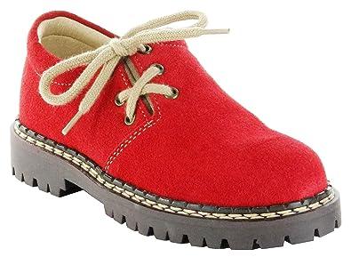 Richter Kinder Halbschuhe Rot Trachten Haferlschuhe Mädchen 7221-963-4301 Chili, Größe:25, Farbe:Rot