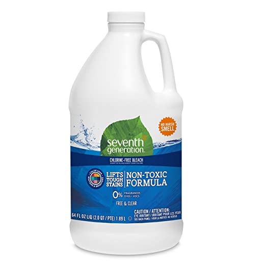 Seventh Generation Chlorine Free Bleach, Free & Clear, 64 oz