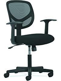 basyx by hon swivel mid back mesh task chair with arms ergonomic computer office