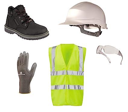 PPE Kit de seguridad, botas, casco, Hi Vis Chaleco, especificaciones, guantes
