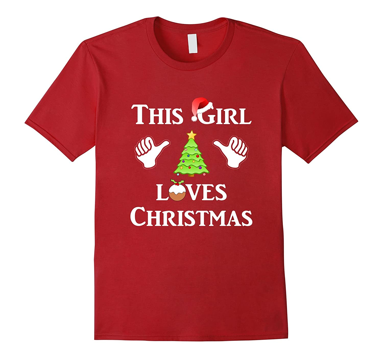 This Girl Loves Christmas T-shirt funny xmas humor tshirt-FL