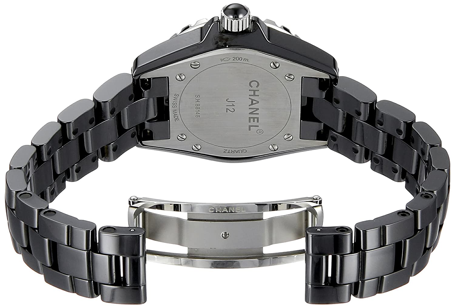 ceramic diamond chanel watch black white product watches