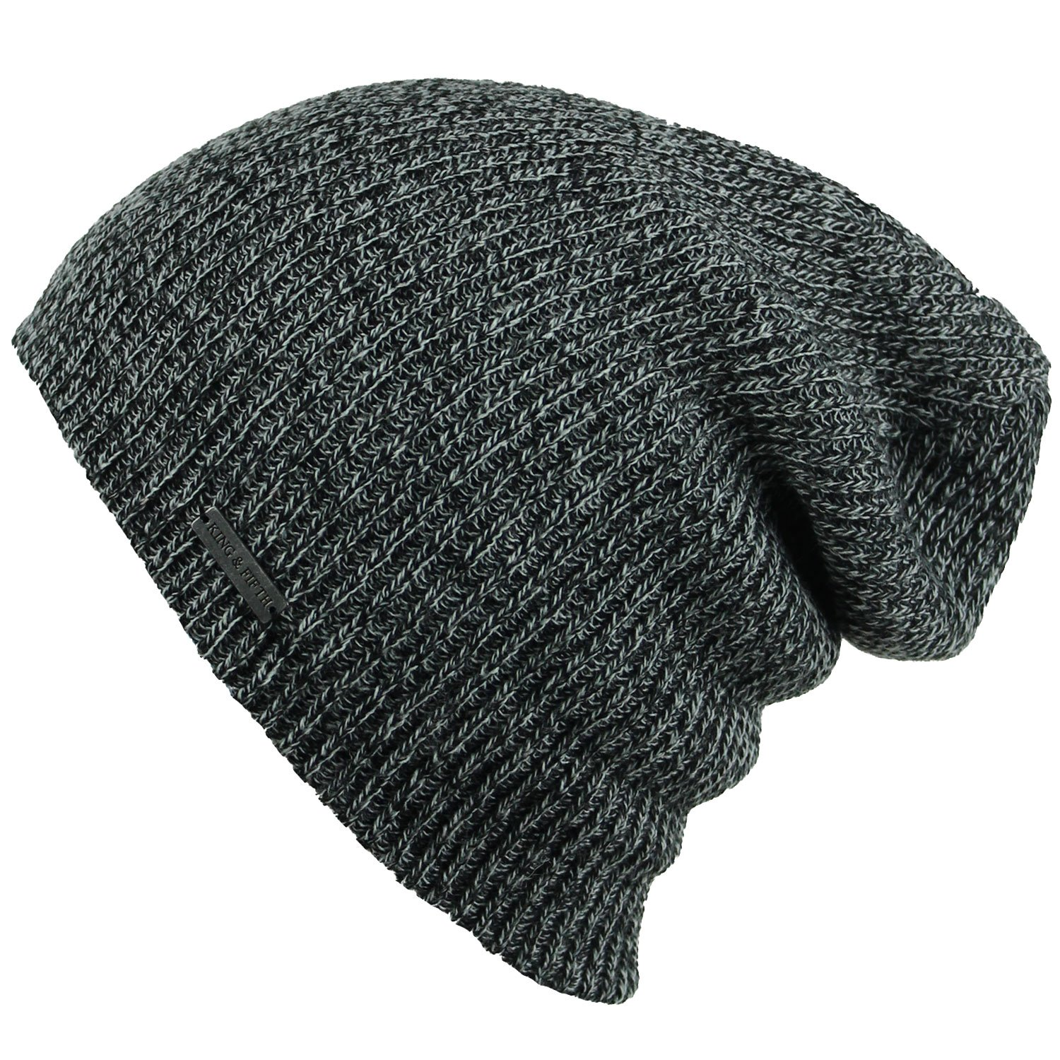 d5160869a963ac Slouchy Beanie for Men & Women by King & Fifth | Premium Quality Beanie Hat  + Warm Winter Hat + Beanie (Black NEP) at Amazon Men's Clothing store: