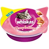 Whiskas Temptations Cat Treats with Seafood, 60 g - Pack of 8