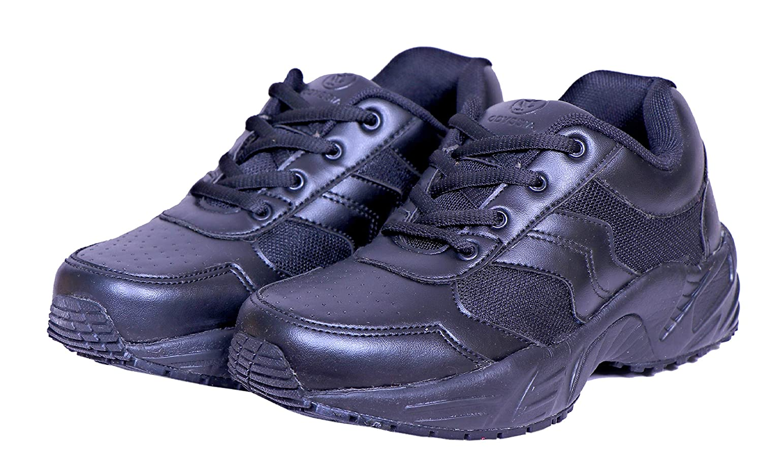 best service cheapest price timeless design Buy Odyssia Black Strong Material School Shoes Heavy Quality (11 ...