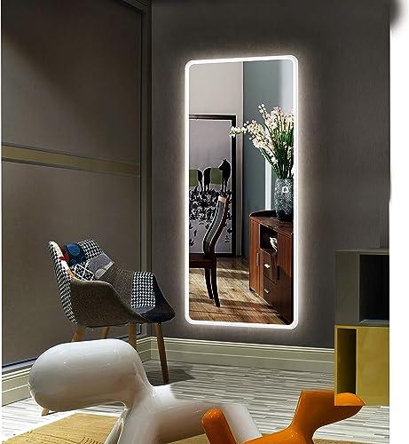 Alice LED Backlit Full Length Mirror Bedroom Dressing Mirror, 65 x22 LED