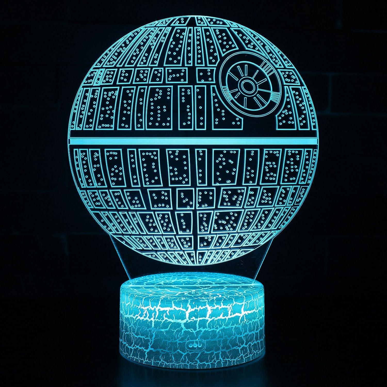 3dイリュージョンLEDデスクランプ夜ライトwith Lighted ABSベースとUSBケーブル、7色変更、スマートタッチボタンコントロール、生活のベッド部屋ホーム装飾クリエイティブギフトおもちゃ B078V11BPD 14853 Death Star Ds-1 Platform Death Star Ds1 Platform
