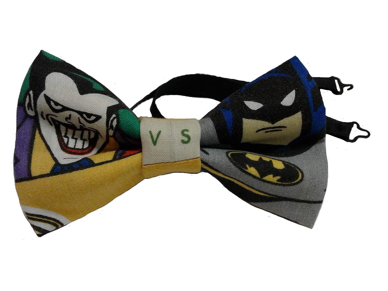 Joker vs Batman Bow Tie, Adjustable to 18 Inches