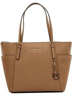b749f4da7271 Michael Kors Women Jet Set Large Top-zip Saffiano Leather Tote Shoulder Bag