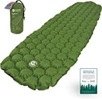 EcoTek Outdoors Hybern8 Ultralight Inflatable Sleeping Pad for Hiking Backpacking and Camping - Contoured FlexCell...
