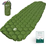 ECOTEK Outdoors Hybern8 Ultralight Inflatable Sleeping Pad with Contoured FlexCell Honeycomb Design - Easy to Inflate…