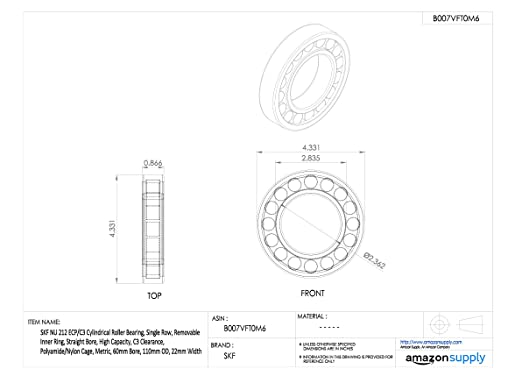 Stahl SKF Radialrollenlager Zylinderform 17 ID