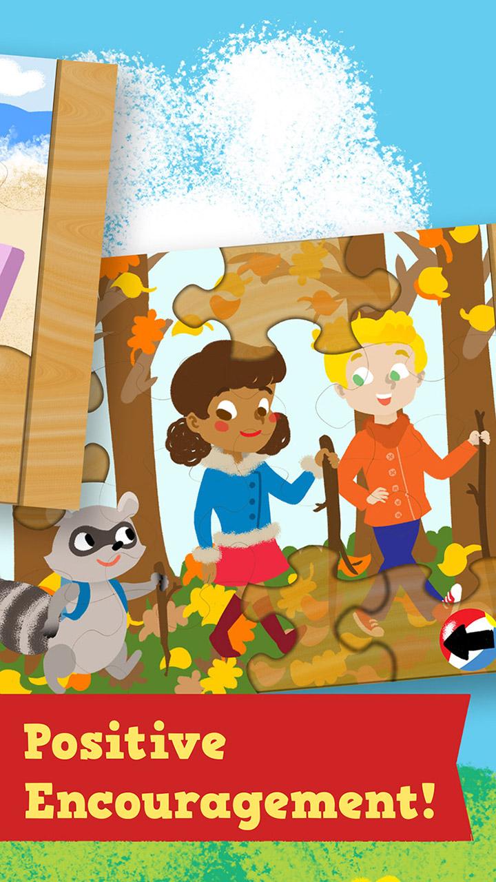 Estações do ano de Quebra-Cabeça para crianças: primavera, verão, outono e inverno jogo de