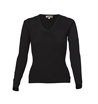 Women's Skinny Rib V-Neck Cashmere Sweater at Amazon Women's ...
