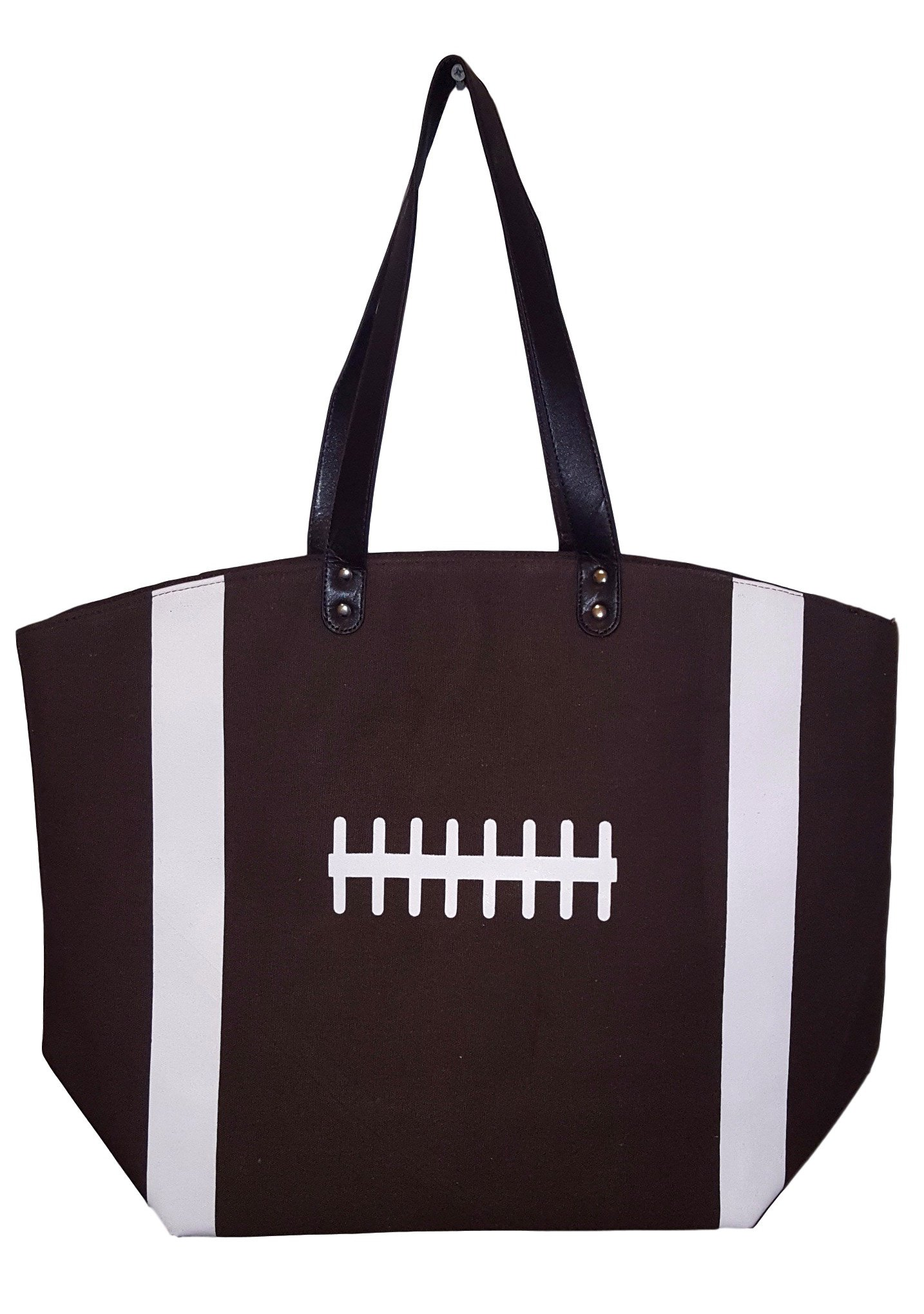 X-Large 22 in Wide Brown Football Design Beach Bag Tote -- Personalization Available (Football - Blank) (Brown Football)