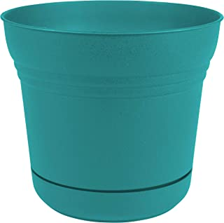 "product image for Bloem SP1426 Saturn Planter w/Saucer 14"", Bermuda Teal Green"
