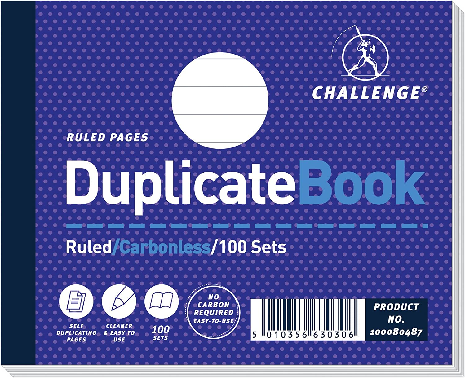Challenge Duplicate Book Carbonless Ruled 100 Sets 105x130mm Ref 100080487 Pack