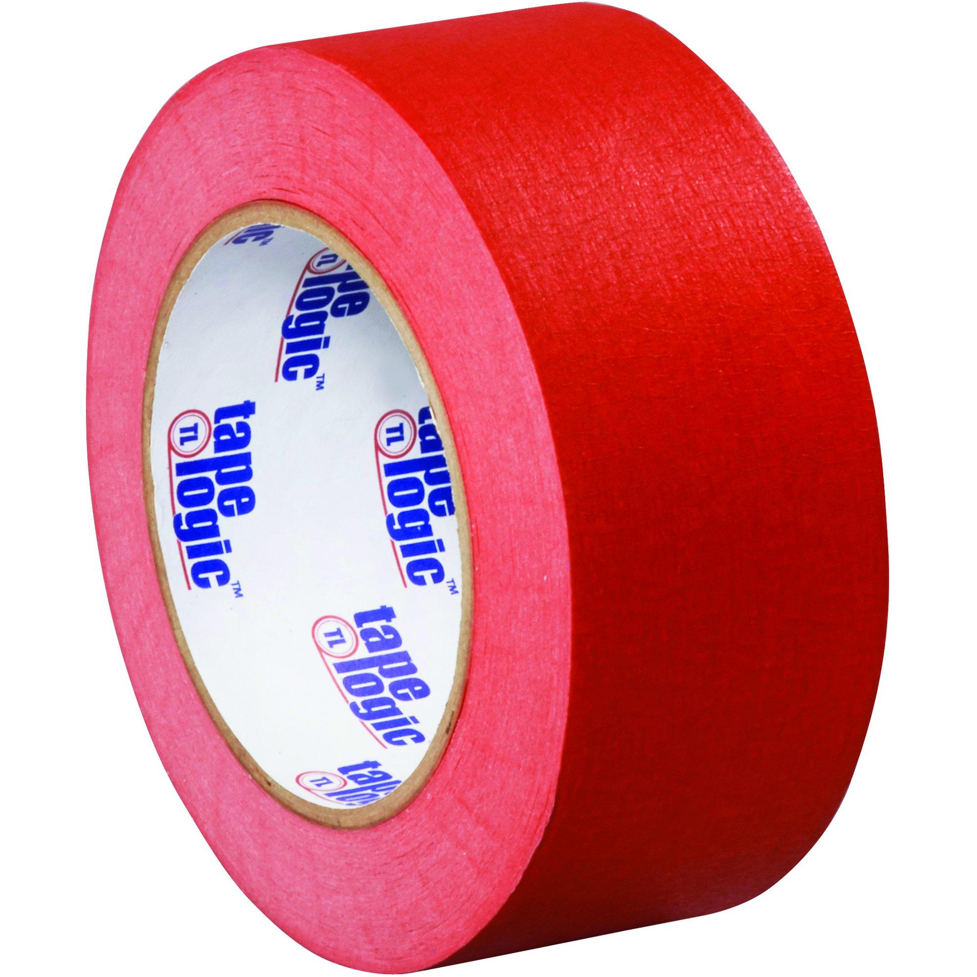 BOX USA BT93700312PKR Tape Logic Masking Tape, 2'' x 60 yd., Red (Pack of 12)