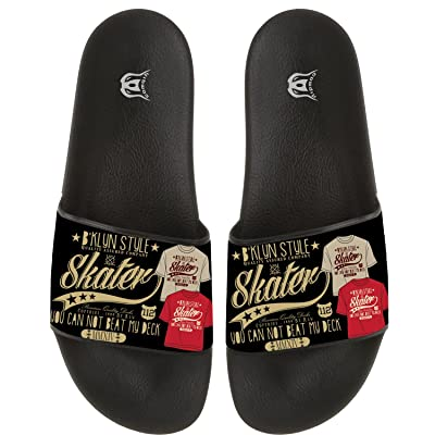 Print Pattern Non-slip Flip Flops Beach Pool Slide Sandal Home Floor Slippers For Men And Women